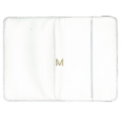 M Monogram Initial Letter M Golden Chic Stylish Typography Gold Samsung Galaxy Tab 7  P1000 Flip Case by yoursparklingshop