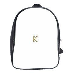 Monogrammed Monogram Initial Letter K Gold Chic Stylish Elegant Typography School Bags(large)  by yoursparklingshop