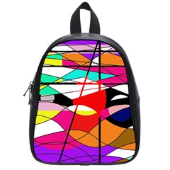 Abstract Waves School Bags (small)  by Valentinaart