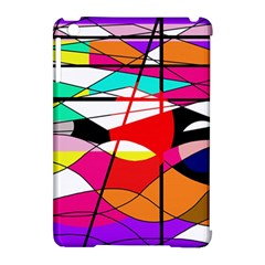 Abstract Waves Apple Ipad Mini Hardshell Case (compatible With Smart Cover) by Valentinaart