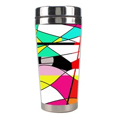 Abstract Waves Stainless Steel Travel Tumblers by Valentinaart