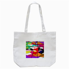 Abstract Waves Tote Bag (white)