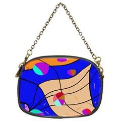 Decorative Abstract Art Chain Purses (two Sides)  by Valentinaart