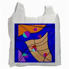 Decorative Abstract Art Recycle Bag (two Side)  by Valentinaart