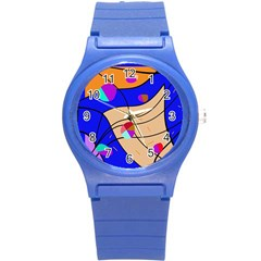 Decorative Abstract Art Round Plastic Sport Watch (s)
