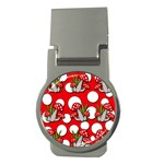 Mushrooms pattern Money Clips (Round)  Front