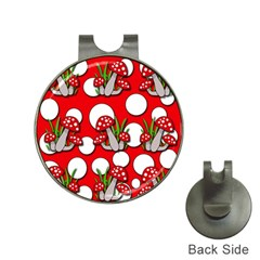Mushrooms Pattern Hat Clips With Golf Markers by Valentinaart