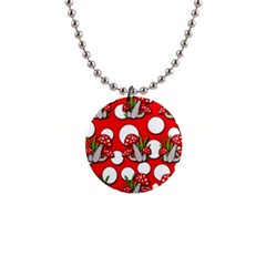 Mushrooms Pattern Button Necklaces