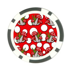 Mushrooms Pattern Poker Chip Card Guards (10 Pack)  by Valentinaart