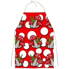 Mushrooms Pattern Full Print Aprons by Valentinaart