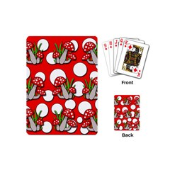 Mushrooms Pattern Playing Cards (mini)  by Valentinaart