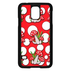 Mushrooms Pattern Samsung Galaxy S5 Case (black) by Valentinaart