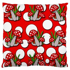 Mushrooms Pattern Standard Flano Cushion Case (two Sides) by Valentinaart