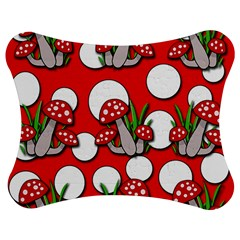 Mushrooms Pattern Jigsaw Puzzle Photo Stand (bow) by Valentinaart
