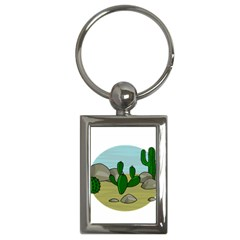 Desert Key Chains (rectangle)  by Valentinaart