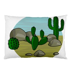 Desert Pillow Case (two Sides) by Valentinaart