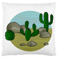 Desert Large Flano Cushion Case (two Sides) by Valentinaart
