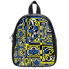 Blue And Yellow Decor School Bags (small)