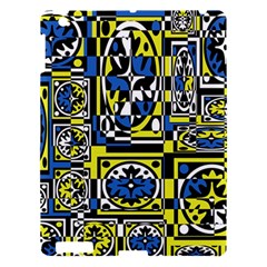 Blue And Yellow Decor Apple Ipad 3/4 Hardshell Case by Valentinaart