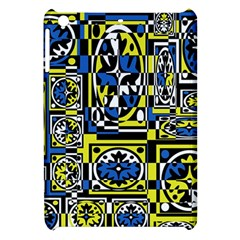 Blue And Yellow Decor Apple Ipad Mini Hardshell Case by Valentinaart