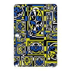 Blue And Yellow Decor Samsung Galaxy Tab Pro 10 1 Hardshell Case by Valentinaart