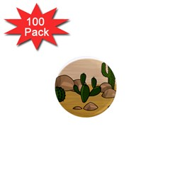 Desert 2 1  Mini Magnets (100 Pack)  by Valentinaart