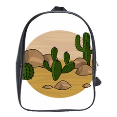 Desert 2 School Bags(large)  by Valentinaart