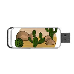 Desert 2 Portable Usb Flash (one Side) by Valentinaart