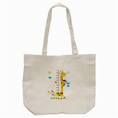 Cute Giraffe Monkey Tote Bag (cream) by AnjaniArt