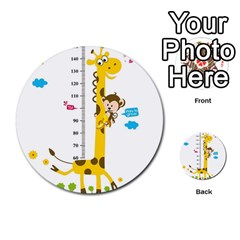 Cute Giraffe Monkey Multi Purpose Cards (round)  by AnjaniArt