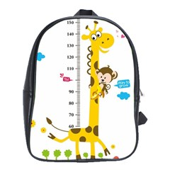 Cute Giraffe Monkey School Bags (xl)