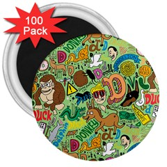 D Pattern 3  Magnets (100 Pack)