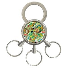 D Pattern 3 Ring Key Chains by AnjaniArt