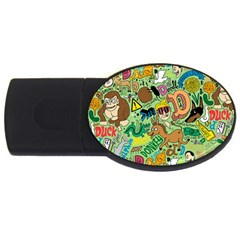 D Pattern Usb Flash Drive Oval (2 Gb)  by AnjaniArt