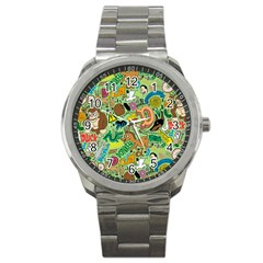 D Pattern Sport Metal Watch