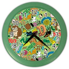 D Pattern Color Wall Clocks by AnjaniArt