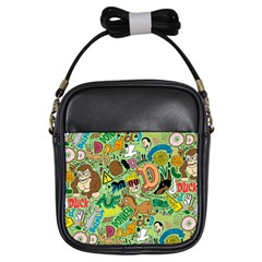 D Pattern Girls Sling Bags by AnjaniArt