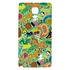 D Pattern Galaxy Note 4 Back Case by AnjaniArt