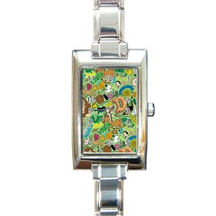 D Pattern Rectangle Italian Charm Watch by AnjaniArt