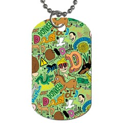 D Pattern Dog Tag (two Sides)