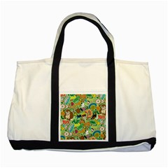 D Pattern Two Tone Tote Bag by AnjaniArt