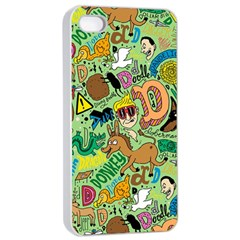 D Pattern Apple Iphone 4/4s Seamless Case (white)