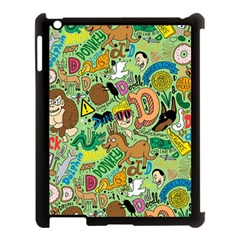 D Pattern Apple Ipad 3/4 Case (black)