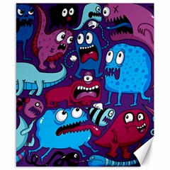 Deep Wow Purple Cartoons Canvas 8  X 10