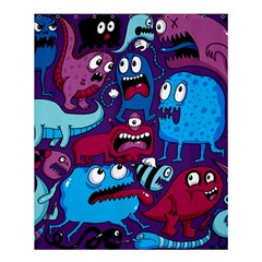 Deep Wow Purple Cartoons Shower Curtain 60  X 72  (medium)  by AnjaniArt