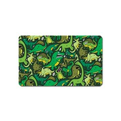 Dino Pattern Cartoons Magnet (name Card) by AnjaniArt
