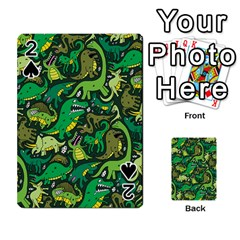 Dino Pattern Cartoons Playing Cards 54 Designs