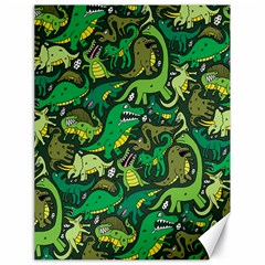 Dino Pattern Cartoons Canvas 18  X 24   by AnjaniArt
