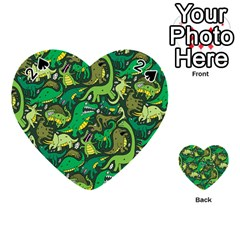 Dino Pattern Cartoons Playing Cards 54 (heart)