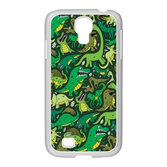 Dino Pattern Cartoons Samsung Galaxy S4 I9500/ I9505 Case (white)